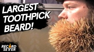 Worlds Largest Toothpick Beard