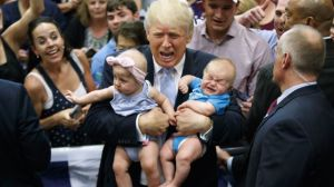 trump baby cry