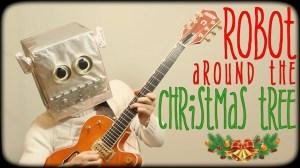 robot-around-the-christmas-tree
