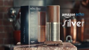 The Amazon Echo Silver