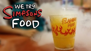 WE TRY SIMPSONS FOOD